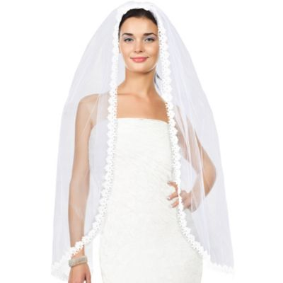 White Lace Bridal Veil