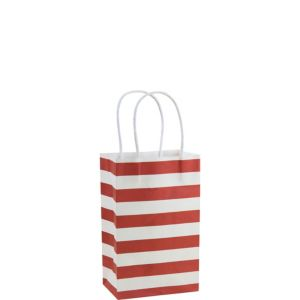 Red Stripe Mini Gift Bag