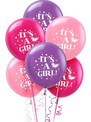 Baby Shower Balloons 15ct - Tweet Baby Girl