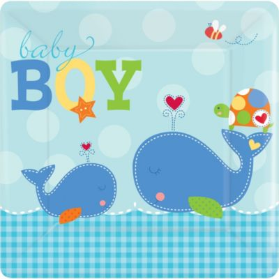 Ahoy Baby Boy Baby Shower Dinner Plates 8ct