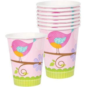 Tweet Baby Girl Baby Shower Cups 8ct