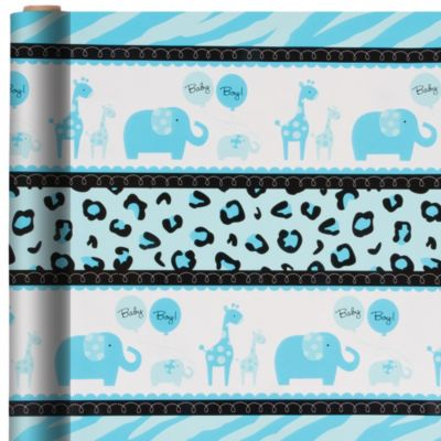 Blue Safari Gift Wrap