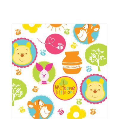 Winnie the Pooh Baby Shower Lunch Napkins 16ct