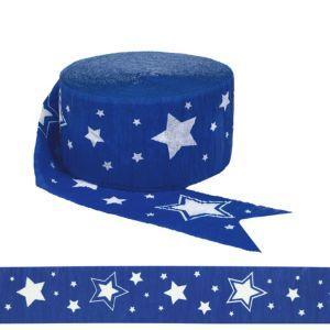 Royal Blue Star Streamer