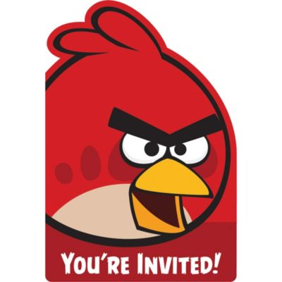 Angry Birds Invitations 8ct
