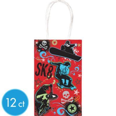 Skulls Favor Bags 12ct