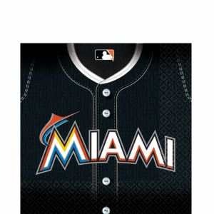 Miami Marlins Lunch Napkins 36ct