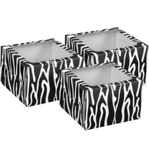 Zebra Cupcake Boxes 3ct