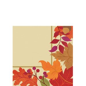 Festive Fall Beverage Napkins 36ct
