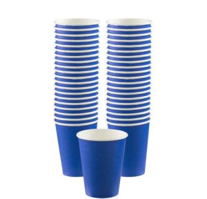 BOGO Royal Blue Paper Coffee Cups 12oz 40ct