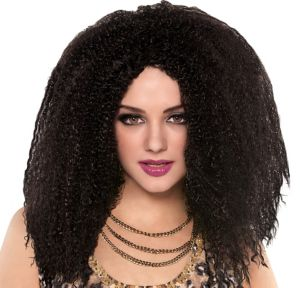 Bodacious Curly Black Wig