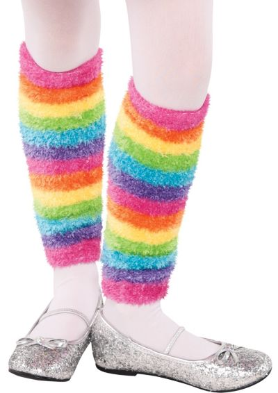 Child Rainbow Fairy Leg Warmers