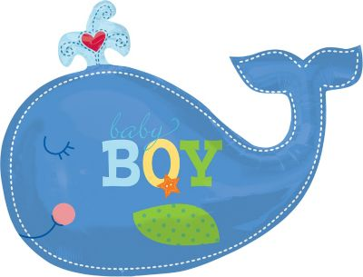 Whale Balloon - Ahoy Baby Boy
