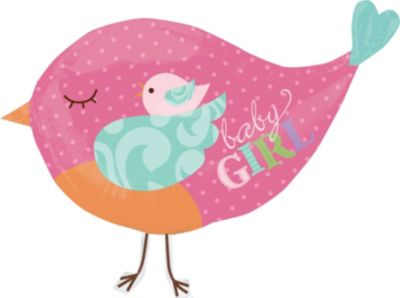 Baby Girl Balloon - Tweet Bird