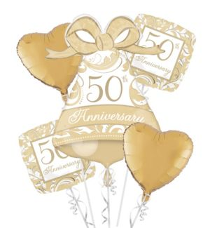 50th Anniversary Balloon Bouquet 5pc