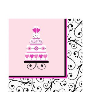 Sweet Wedding Lunch Napkins 36ct