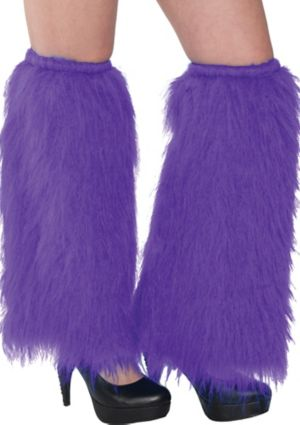 Purple Furry Leg Warmers