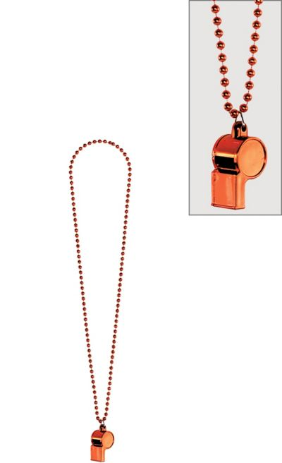 Orange Whistle Necklace