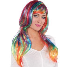 Glamorous Long Rainbow Wig