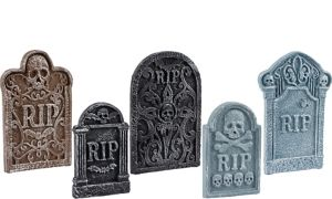 Tombstone Decoration Set 5ct
