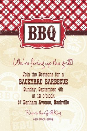 Custom It's BBQ Time Summer Invitations