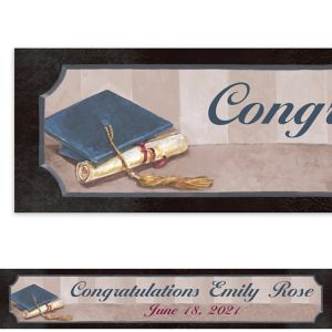 Custom Framed Cap and Diploma Banner 6ft