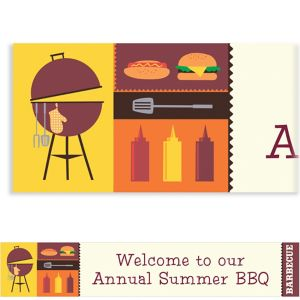 Custom Sizzling Hot Barbecue Summer Banner 6ft