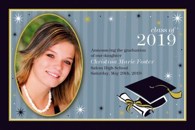 Custom Grad Honors Photo Announcements