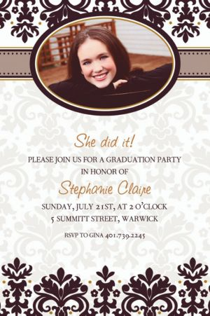 Custom Black & White Photo Invitations