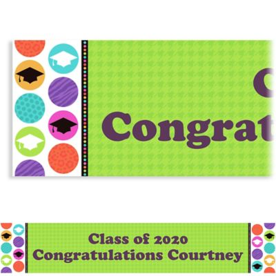 Colorful Commencement Custom Graduation Banner