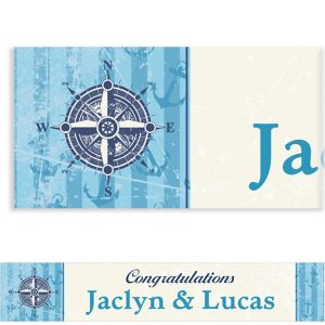 Custom Compass on Seersucker Border Banner 6ft