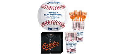 Baltimore Orioles Basic Party Kit for 16 Guests