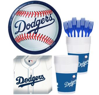 Los Angeles Dodgers Basic Party Kit for 16 Guests