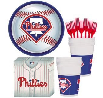 Philadelphia Phillies Basic Party Kit for 16 Guests