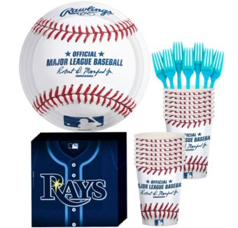 Tampa Bay Rays Basic Party Kit for 16 Guests