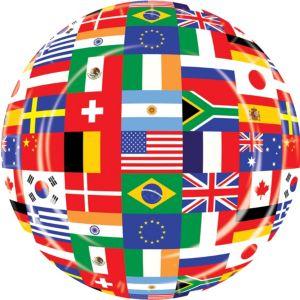 International Flag Lunch Plates 8ct