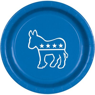 Democrat Lunch Plates 8ct