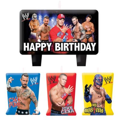 WWE Birthday Candles 4ct