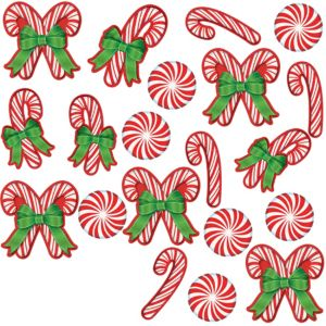 Glitter Candy Cane Cutouts 20ct