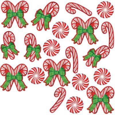 Glitter Candy Cane Cutouts 20ct