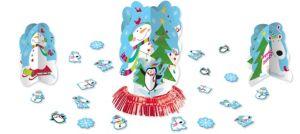 Joyful Snowman Centerpiece Kit 27pc