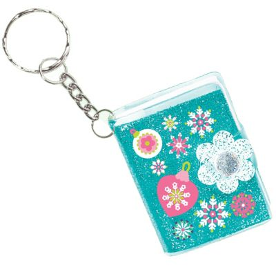 Christmas Glitter Keychain Notebook