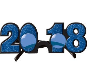 Glitter Blue 2017 Glasses