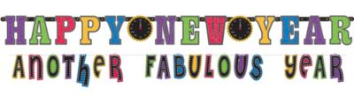 Colorful New Year's Banners 2ct