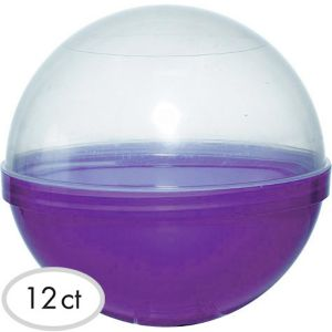 Purple Ball Favor Container 12ct