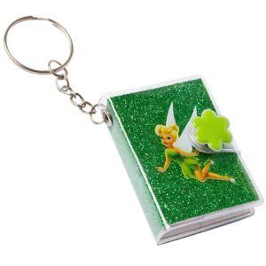 Tinker Bell Glitter Book Key Chain