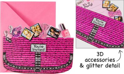 Handbag Barbie Invitations 8ct