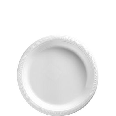 White Plastic Dessert Plates 20ct