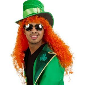 Shamrocking Orange Wig