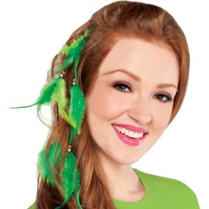 St. Patrick's Day Feather Hair Extension